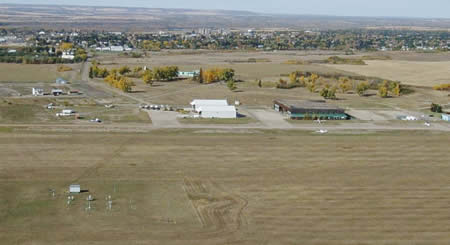 Aerial View of City of North Battleford Airport
